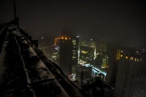 Book Tower, Detroit – [Sony NEX-5R: ISO 5000, 18mm, 1/60 sec @ f4.0]